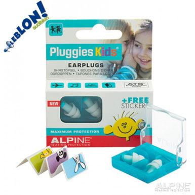 Alpine Pluggies kids bouchons de protection pour enfants avec stickers